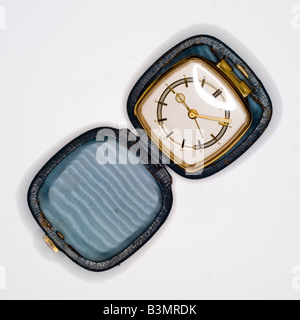 Travelling clock, elevated view - Stock Photo
