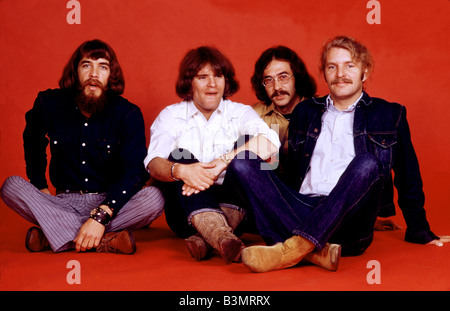 CREEDENCE CLEARWATER REVIVAL  US pop group in April 1970 - see Description below for names - Stock Photo