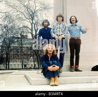 CREEDENCE CLEARWATER REVIVAL  US pop group in Grosvenor Square, London, on 17 April 1970 - Stock Photo