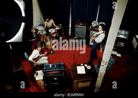 CREEDENCE CLEARWATER REVIVAL  US pop group in a recording studio in 1971 - Stock Photo