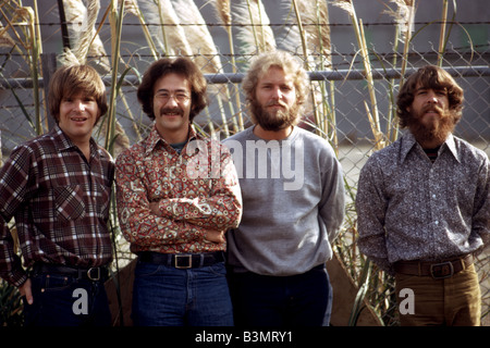 CREEDENCE CLEARWATER REVIVAL  US pop group in 1972 - See Description below for names - Stock Photo