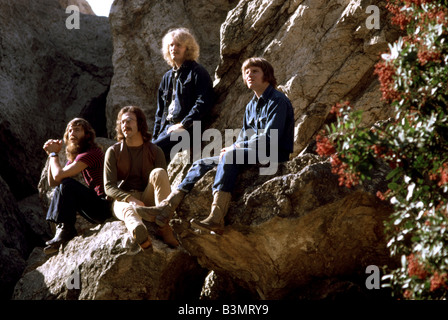 CREEDENCE CLEARWATER REVIVAL  US pop group in 1971 - See Description below for names - Stock Photo