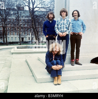 CREEDENCE CLEARWATER REVIVAL  US pop group in Grosvenor Square, London, on 17 April 1970 - See Description below - Stock Photo