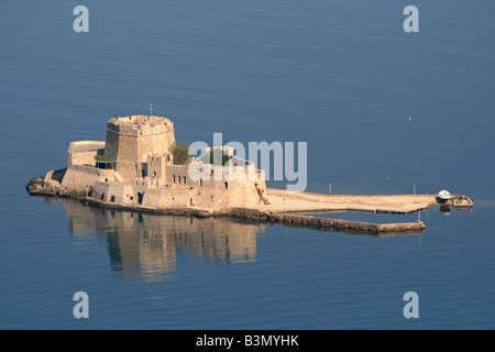 Bousdri, the harbour fortress protecting Nafplion - Stock Photo