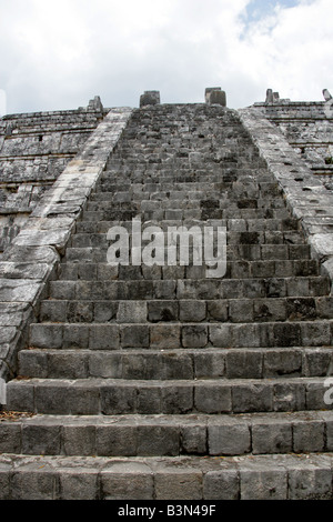 The Ossuary or Tomb of the High Priest Chichen Itza Archaeological Site Chichen Itza Yucatan Peninsula Mexico - Stock Photo