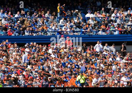 Crowd at Yankee Stadium, home of the New York Yankees baseball team - Stock Photo