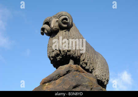 Scupture of the Moffat Ram, Moffat, Dumfries and Galloway, Scotland - Stock Photo
