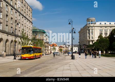 Krakowskie Prezmiescie Warsaw - Stock Photo