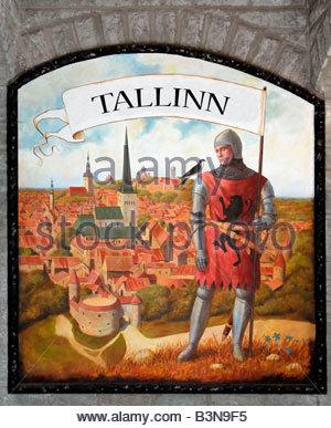 Wall painting / Tallinn - Stock Photo