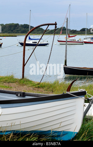 the estuary creek harbour at newtown national trust nature reserve near shalfleet newport on the isle of wight - Stock Photo