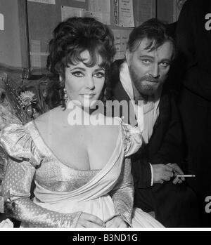 Richard Burton actor and Elizabeth Taylor in a play at The Oxford University Dramatic Society Doctor Faustus - Stock Photo