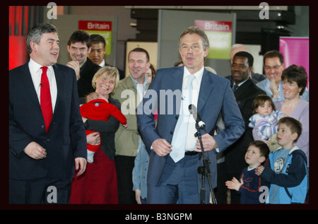 Old Billingsgate Market London at a poster launch this morning the Prime Minister Tony Blair contrasted Labour s - Stock Photo