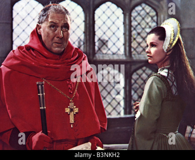 ANNE OF THE THOUSAND DAYS 1969 Universal film with  Genevieve Bujold and Anthony Quayle - Stock Photo