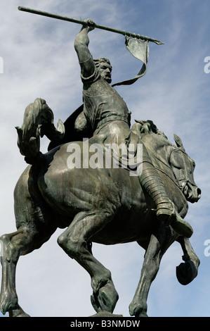 El Cid statue in Balboa Park San Diego California USA - Stock Photo