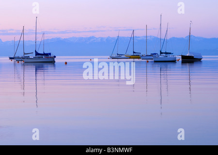 Germany, Immenstaad, Lake Constance - Stock Photo