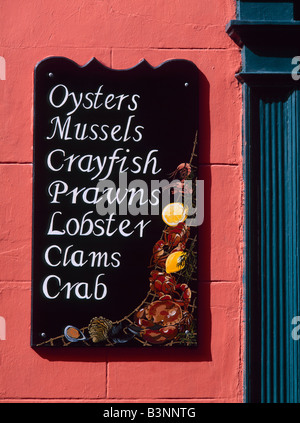 Restaurant sign, Kinsale, County Cork, Munster, Ireland - Stock Photo