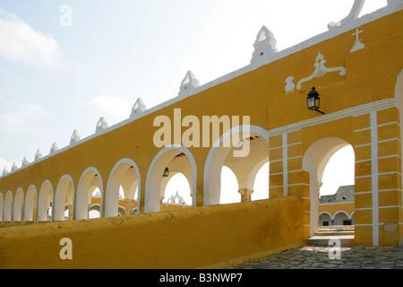 San Antonio de Padua Convent (St Anthony of Padua Convent), Izamal, Yucatan Peninsular, Mexico - Stock Photo