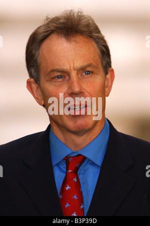 British Prime Minister Tony Blair July 2003 - Stock Photo