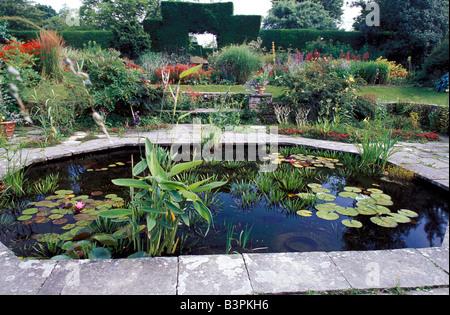 Sunk Garden, Great Dixter Gardens, Northiam, Rye, East Sussex, England, United Kingdom, Europe - Stock Photo