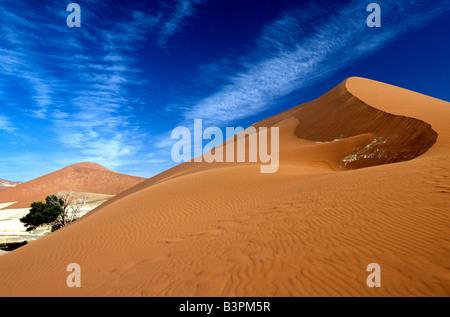 Sossusvlei, Namib-Naukluft National Park, Namibia, Africa - Stock Photo