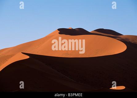 Sand dunes near Sossusvlei Lodge, Namib-Naukluft National Park, Namibia, Africa - Stock Photo