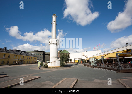 Old clock tower Lasipalatsi Helsinki Finland - Stock Photo