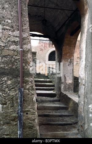 Foreshortening, Bagolino, Lombardy, Italy - Stock Photo
