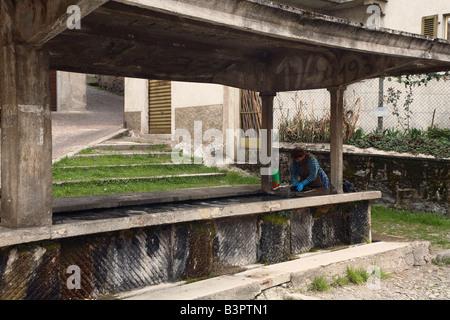 Washing, Bagolino, Lombardy, Italy - Stock Photo