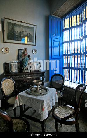 Crocodile house, Trinidad, Cuba, West Indies, Central America - Stock Photo