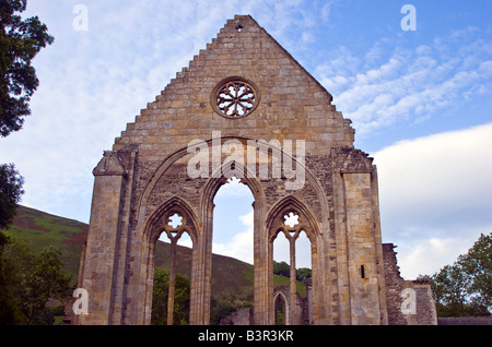 Valle Crucis a 13th century Abbey near Llangollen, Denbighshire Wales UK 2008 - Stock Photo