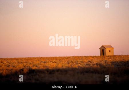 Corrugated iron tin hut