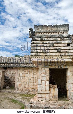 Puuc Architectural Style Quadrangle of the Birds Uxmal Maya Ruins Yucatan Peninsula Mexico 2007 NR - Stock Photo