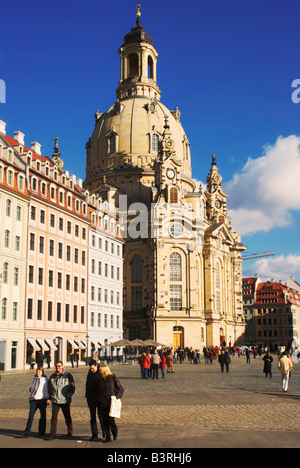 Church of Our Lady, Frauenkirche, Dresden, Germany - Stock Photo