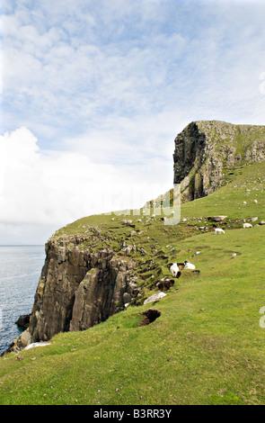 Neist point near Glendale Isle of Skye Scotland - Stock Photo