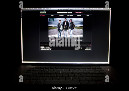(BHZ) The BBC iPlayer on a Apple Mac laptop computer screen UK (BHZ) - Stock Photo