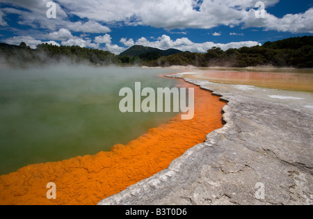 Champagne Pool, Wai-O-Tapu, North Island, New Zealand - Stock Photo