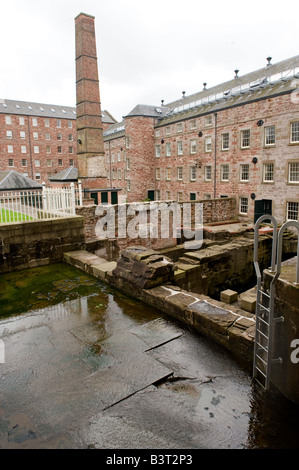 Stanley Mills Perthshire Scotland Historic water powered cotton mill on the banks of the River Tay - Stock Photo