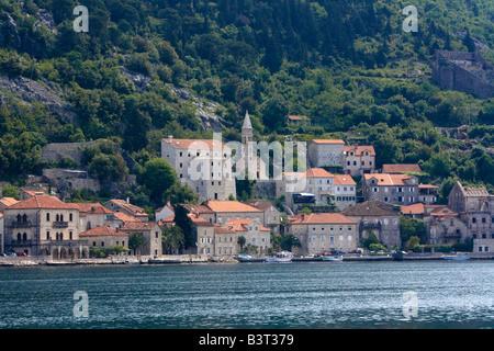 Risan Bay of Kotor Montenegro Europe - Stock Photo