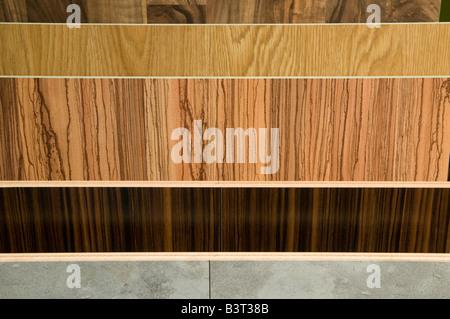 Strips of wooden parquet floor - Stock Photo