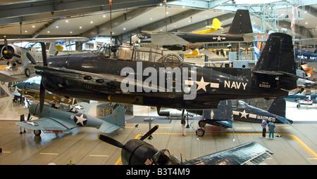 Exhibits on us navy aircraft carrier uss lexington now a for M l motors in lexington