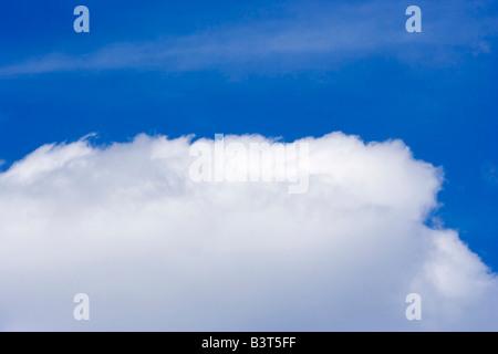 big cloud in the sky - on cloud nine - Stock Photo