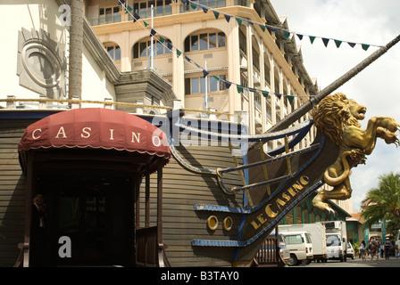 Mauritius, Port Louis. Entrance to Port Louis casino. - Stock Photo