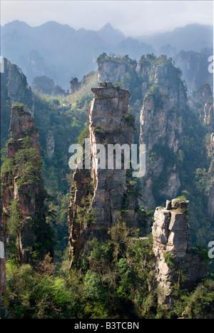 Asia, China, Hunnan Province, Zhangjiajie National Forest Park. - Stock Photo