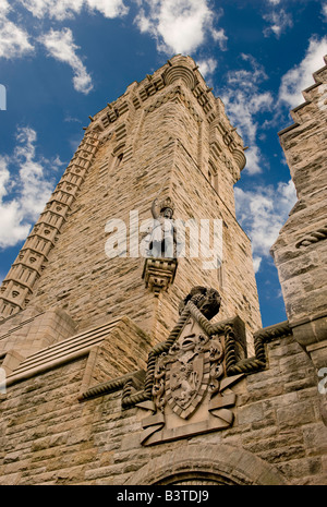 Wallace Memorial tower Stirling in Scotland. Built where William Wallace defeated the English at the Battle of Stirling - Stock Photo