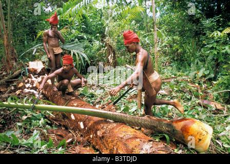 Oceania, Indonesia, Ceram Island, Maluku. Naulu People. - Stock Photo