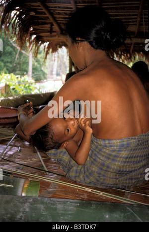 Oceania, Indonesia, Ceram Island, Maluku. Tugutil People. - Stock Photo