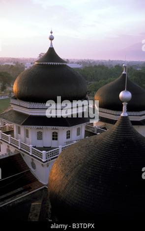 Oceania, Indonesia, Sumatra, Banda Aceh. Grand Mosque. - Stock Photo