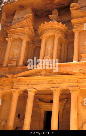 Asia, Jordan, Petra. The Treasury, Al-Khanah. - Stock Photo