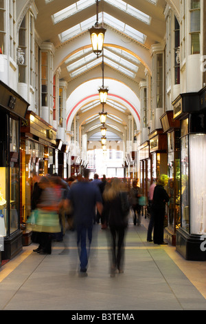 England, London. The Burlington Arcade is a pedestrian shopping arcade running from Piccadilly through to Burlington - Stock Photo