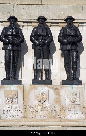 England, London, The Guards Memorial in Horseguards Parade. It was erected in 1926 and dedicated to the five Foot - Stock Photo